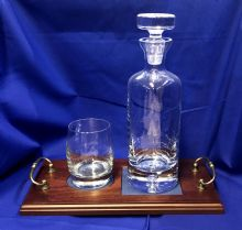 Decanter, Glasses & Tray